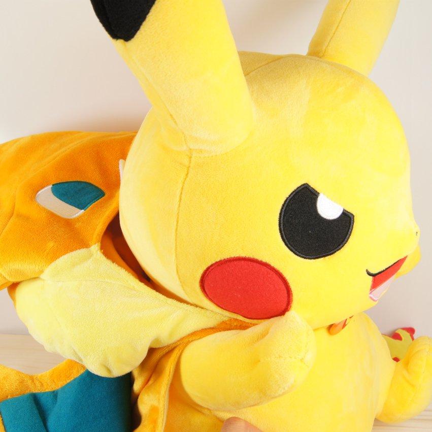 Pokemon Center 2015 Mega Charizard Y Pikachu Plush Mega ...