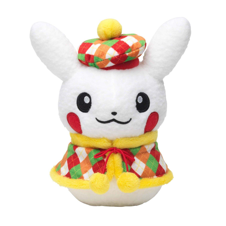 Christmas Plush Toys : Pokemon center christmas aurora tour pikachu female
