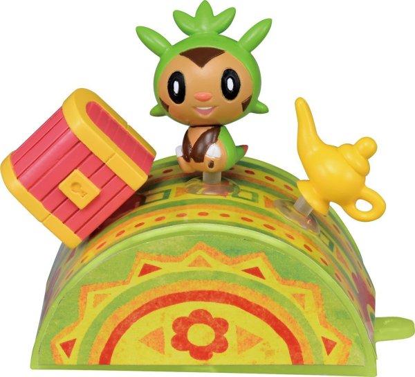 Photo1: Pokemon 2014 Takara Tomy Pita-Poke XY Chespin S Mini figure PitaPoke (1)
