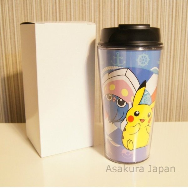 Photo1: Pokemon Center lottery prize first rank Pikachu Inkay Tumbler (1)