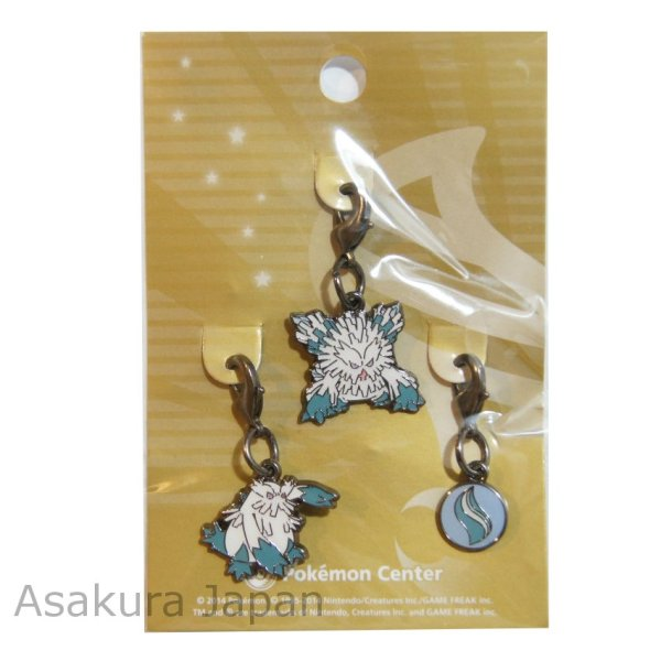 Photo1: Pokemon Center 2014 Mega Abomasnow Abomasnow Mega Stone Metal Charm Set (1)