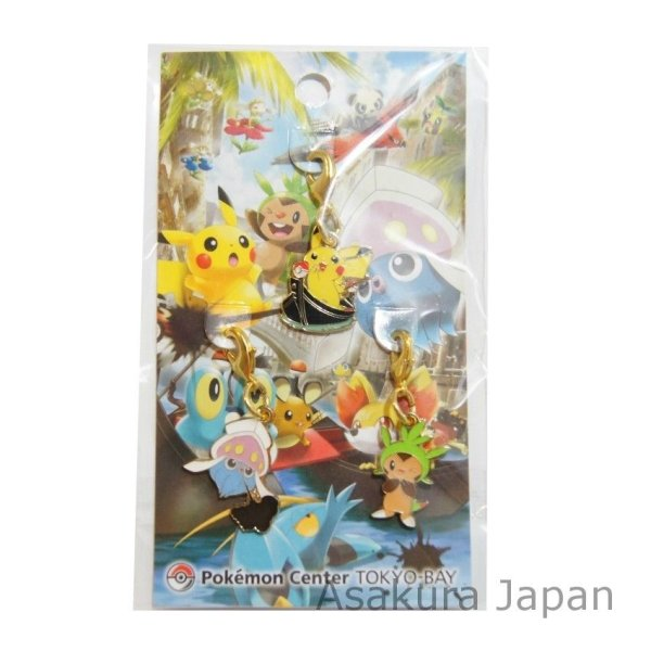 Photo1: Pokemon Center 2013 Tokyo Bay Grand Open Metal Charm Chespin Pikachu Inkay (1)