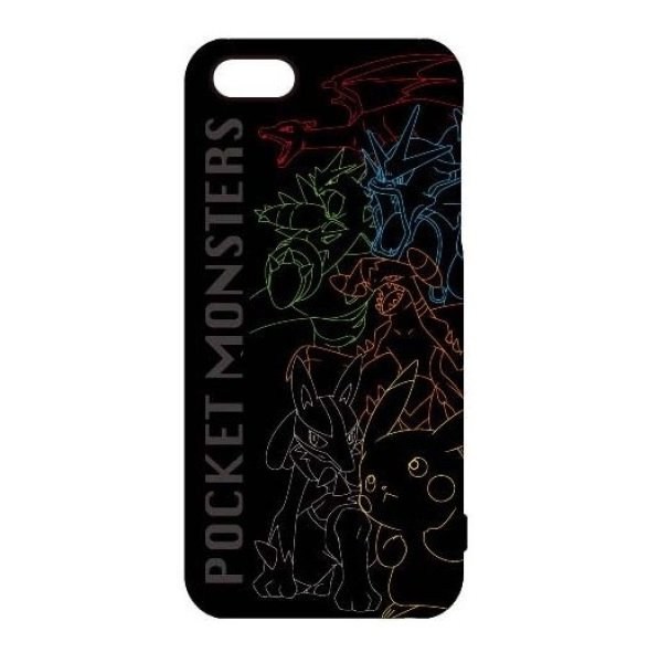 Photo1: Pokemon 2013 iPhone 5 5s Mobile Phone Hard Cover Line Art (1)