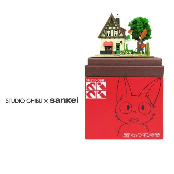 """Photo1: Studio Ghibli mini Paper Craft Kit Kiki's Delivery Service 07 """"Osono and Kiki"""" (1)"""