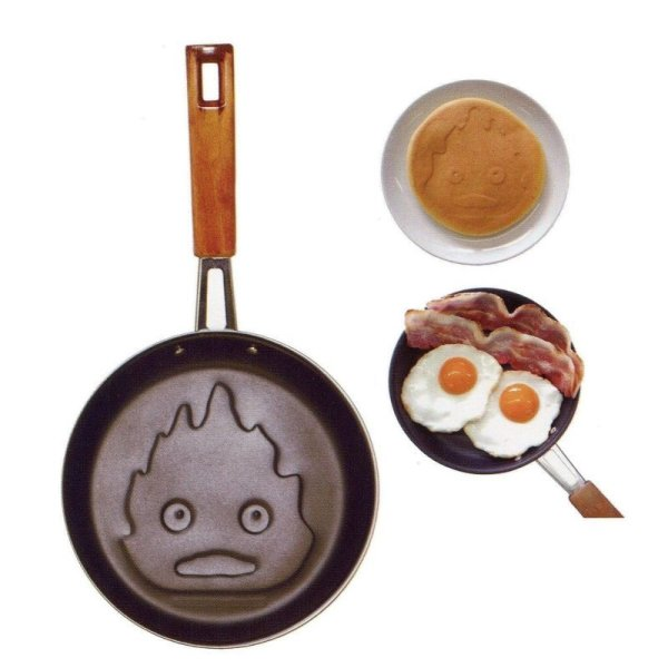 Photo1: Studio Ghibli Howl's Moving Calcifer Frying Pan Cooking Kitchen Tools (1)