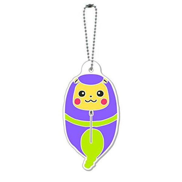 Photo1: Pokemon 2015 Pikachu Nebukuro Sleeping Bag Collection Rubber Charm Ekans (1)