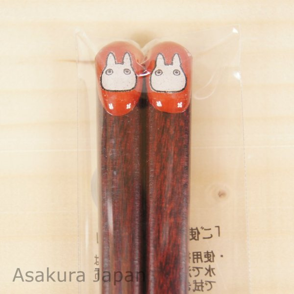 Photo1: Studio Ghibli Chopsticks Pukkuri My Neighbor Totoro Sho Totoro Red Adult Size (1)