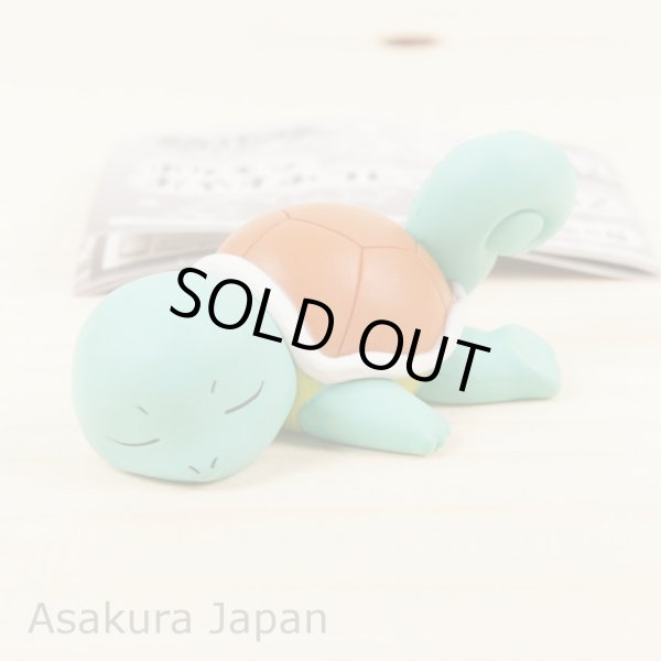 Photo1: Pokemon XY & Z 2015 Good Night Friends Squirtle Sleeping Figure Takara Tomy (1)