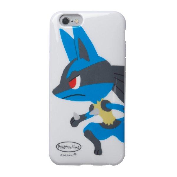 Photo1: Pokemon Center 2016 iPhone 6 6s Soft Case pokemon time Lucario Jacket Cover (1)