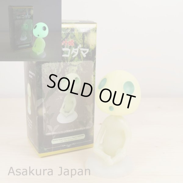 Photo1: Studio Ghibli Princess Mononoke Bobble Head KODAMA Night-Glow Figure sit Ver. (1)