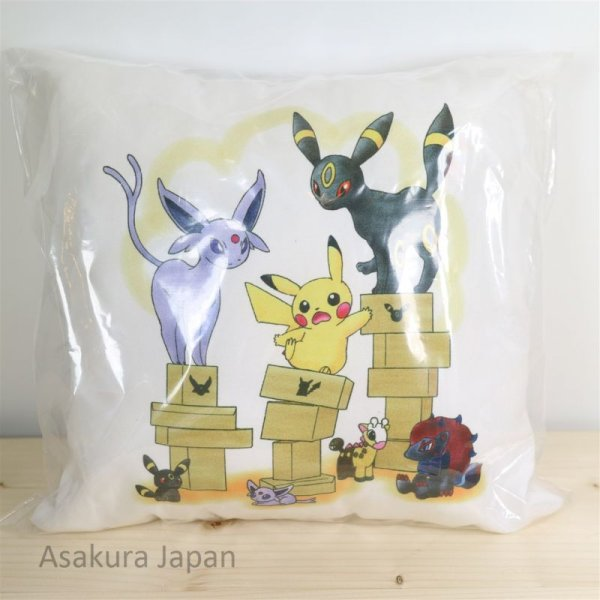 Photo1: Pokemon Center Online 2016 Mini Cushion #2 Pikachu Umbreon Espeon Zoroark Pillow (1)