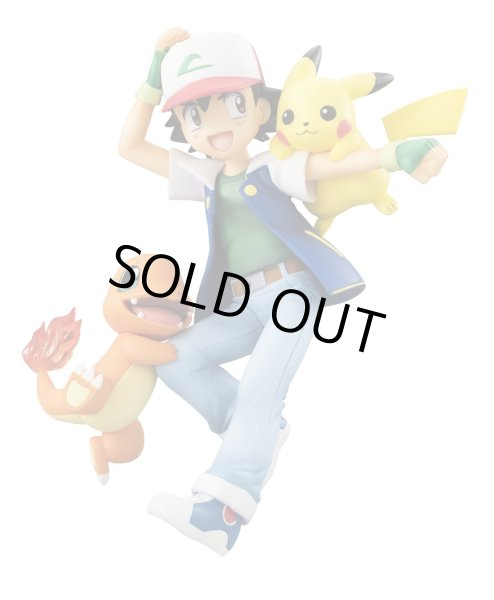 Photo1: MEGAHOUSE G.E.M. SERIES Pokemon Ash & Pikachu & Charmander PVC Figure (1)