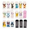 Photo3: Pokemon Center 2016 Evolutions Short Socks for Women 23 - 25cm 1 Pair Jolteon (3)