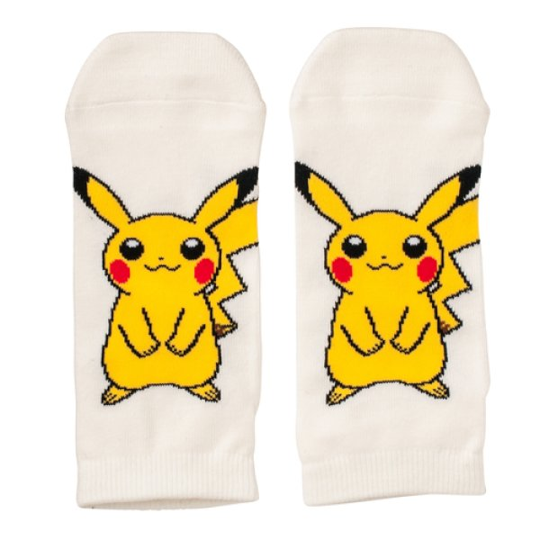 Photo1: Pokemon Center 2016 Short Socks for Women 23 - 25cm 1 Pair Pikachu (1)