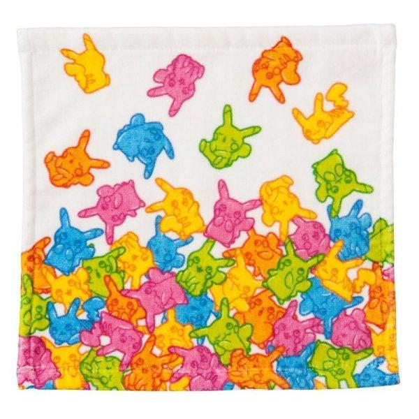 Photo1: Pokemon Center 2016 Pikachu Gummi Candy Hand Towel Handkerchief (1)