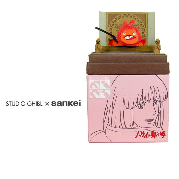 "Photo1: Studio Ghibli mini Paper Craft Kit Howl's Moving Castle 33 ""Calcifer and Bacon Egg"" (1)"