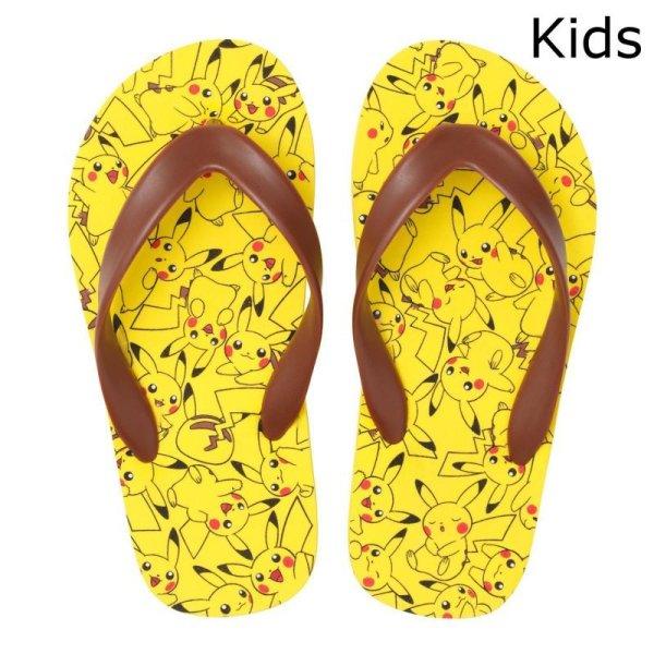 Photo1: Pokemon Center 2016 Beach sandals Pikachu ga ippai Kids size 19cm (1)