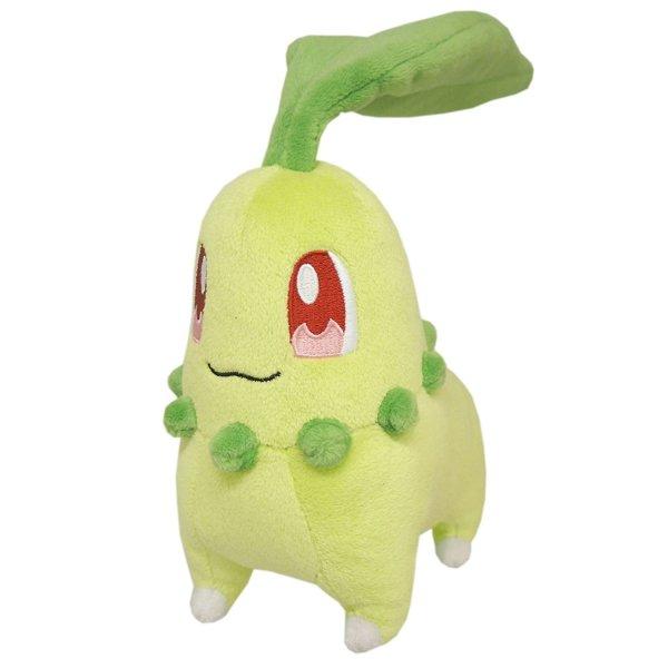 Photo1: Pokemon 2016 ALL STAR COLLECTION Chikorita Plush Toy SAN-EI (1)