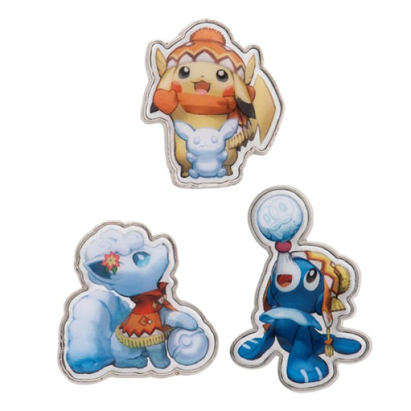 Photo1: Pokemon Center 2016 Sapporo Snow Festival Pin Badge Pins Pikachu Alola Vulpix Popplio (1)
