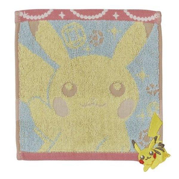 Photo1: Pokemon Center 2016 Pyokkori Embroidery Hand towel Pikachu Handkerchief (1)