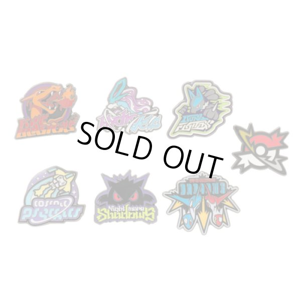 Photo1: Pokemon Center 2017 POKEMON GRAPHIX PTBL Pins Collection Complete set 7 Pin Badge (1)