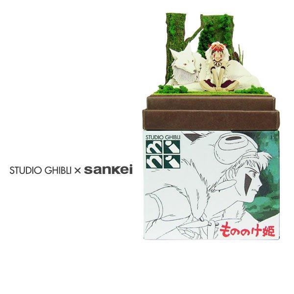 "Photo1: Studio Ghibli mini Paper Craft Kit Princess Mononoke 45 ""San and mountain wolf"" (1)"