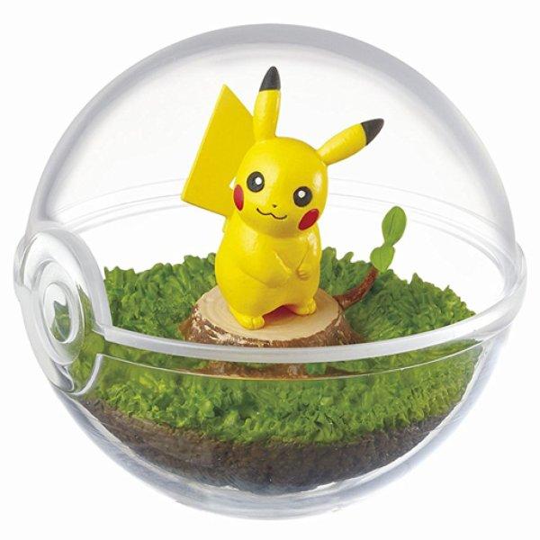 Photo1: Pokemon 2017 Terrarium Collection #1 Pikachu Mini Figure (1)