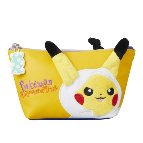 Photo1: Pokemon Center 2017 Pokemon Halloween Time Pouch Case Pikachu Mimikyu (1)
