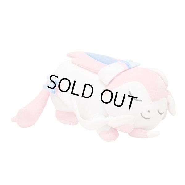 """Photo1: """"Discounted until Feb 27"""" Pokemon Center 2017 Eevee Collection Large Size Plush Sleeping Sylveon doll Big (1)"""