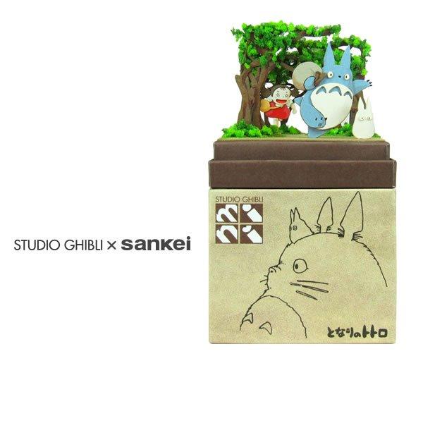 "Photo1: Studio Ghibli mini Paper Craft Kit My Neighbor Totoro 47 ""Secret tunnel"" (1)"