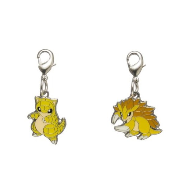 Photo1: Pokemon Center 2018 #My151 Metal Charm # 027 028 Sandshrew Sandslash (1)