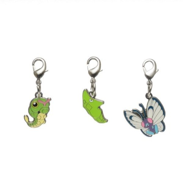 Photo1: Pokemon Center 2018 #My151 Metal Charm # 010 011 012 Caterpie Metapod Butterfree (1)
