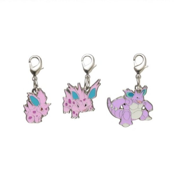 Photo1: Pokemon Center 2018 #My151 Metal Charm # 032 033 034 Nidoran Nidorino Nidoking (1)