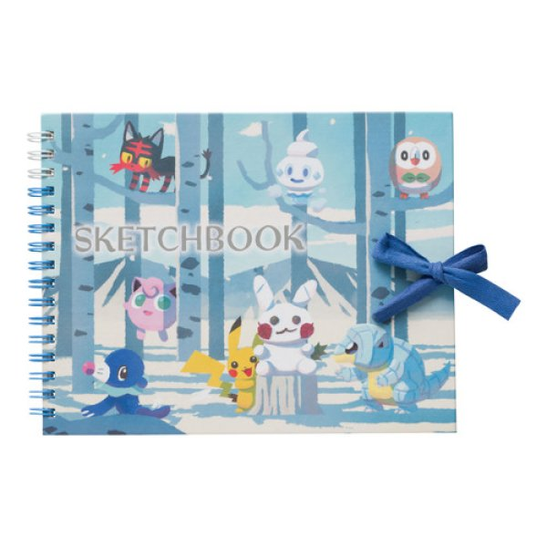 Photo1: Pokemon Center CHRISTMAS 2017 Hide And Seek Spiral Small Size Sketch Book (1)
