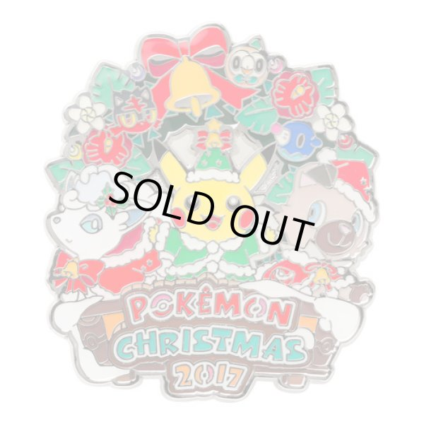 Photo1: Pokemon Center CHRISTMAS 2017 Pin Badge Pins Pikachu Alola vulpix Rockruff (1)