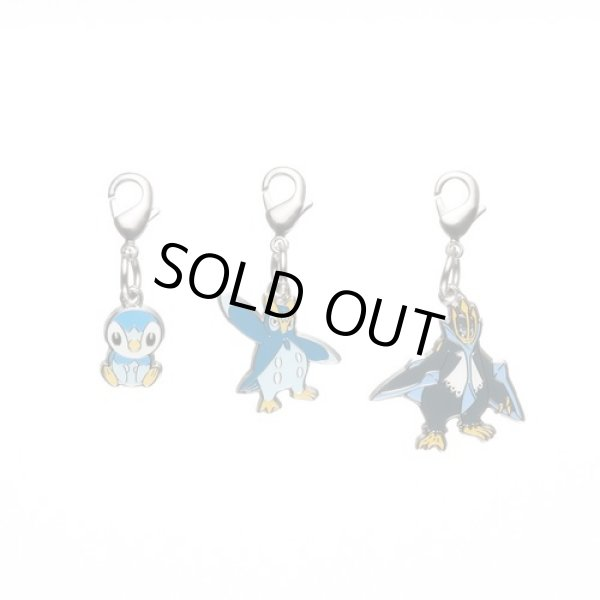 Photo1: Pokemon Center 2012 Metal Charm # 393 394 395 Piplup Prinplup Empoleon (1)