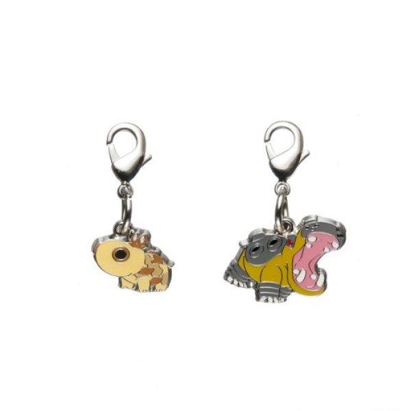 Photo1: Pokemon Center 2012 Metal Charm # 449 450 Hippopotas Hippowdon (1)