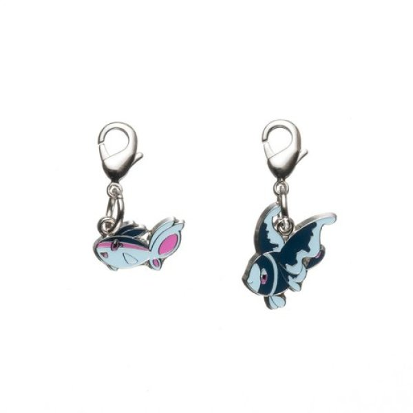 Photo1: Pokemon Center 2012 Metal Charm # 456 457 Finneon Lumineon (1)