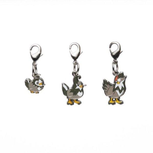 Photo1: Pokemon Center 2012 Metal Charm # 396 397 398 Starly Staravia Staraptor (1)