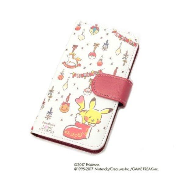 Photo1: POKEMON LOVE ITS' DEMO Christmas Smartphone Universal Flip Case MULTI COVER (1)