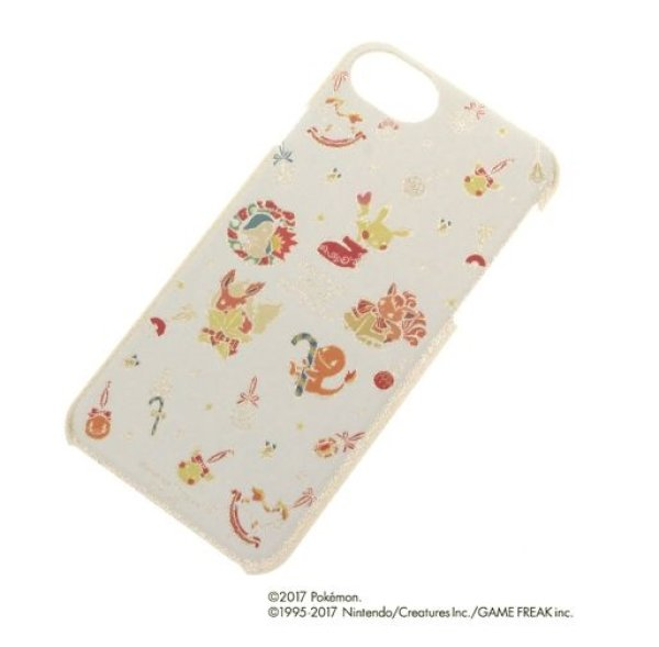 Photo1: POKEMON LOVE ITS' DEMO Christmas iPhone 7/6s/6 COVER Hard case Pikachu Vulpix (1)
