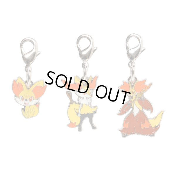Photo1: Pokemon Center 2014 Metal Charm # 653 654 655 Fennekin Braixen Delphox (1)