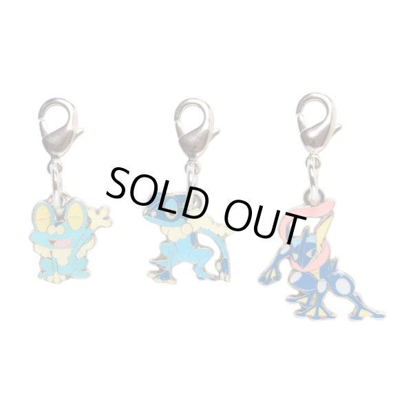 Photo1: Pokemon Center 2014 Metal Charm # 656 657 658 Froakie Frogadier Greninja (1)