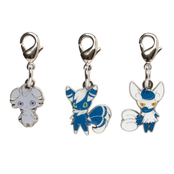 Photo1: Pokemon Center 2014 Metal Charm # 677 678 Meowstic Male Female Espurr (1)