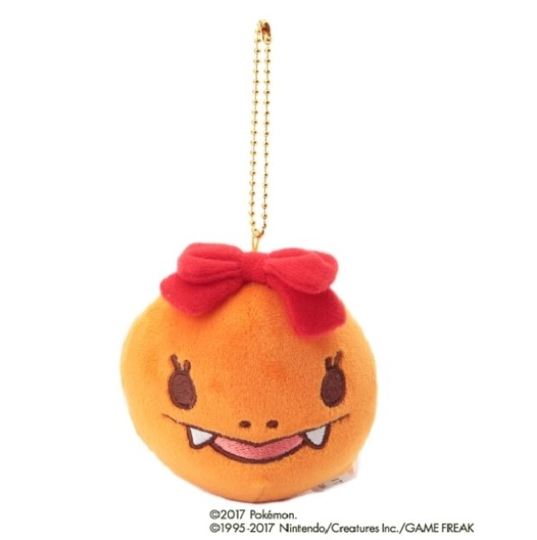 Photo1: POKEMON LOVE ITS' DEMO Christmas Charmander Plush Mascot Keychain (1)