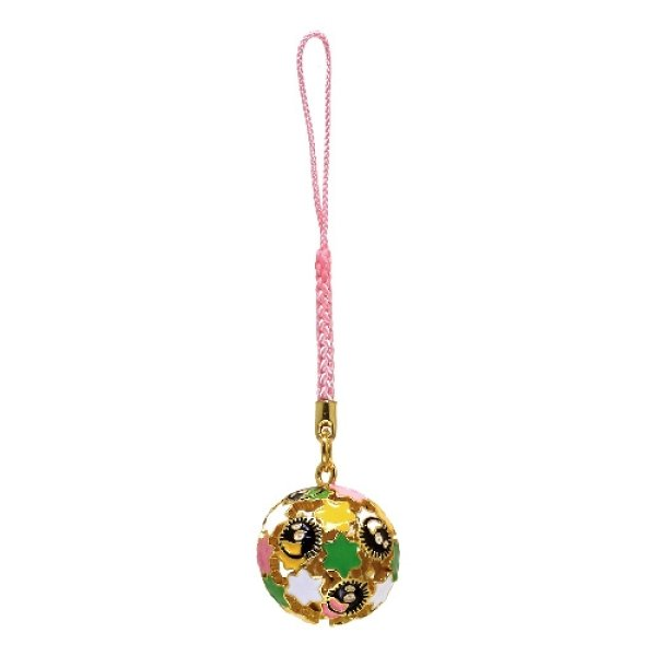 Photo1: Studio Ghibli Bell Charm Strap Spirited Away Susuwatari Kompeito (1)
