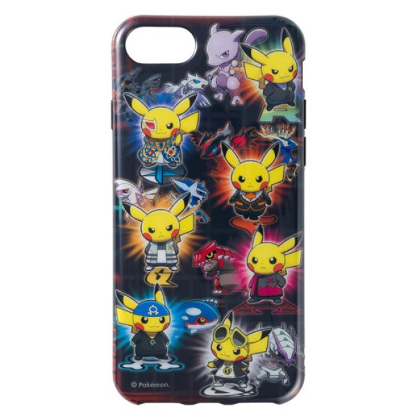 Photo1: Pokemon Center 2018 Soft jacket for iPhone 8/7/6s/6 Rainbow Rocket (1)
