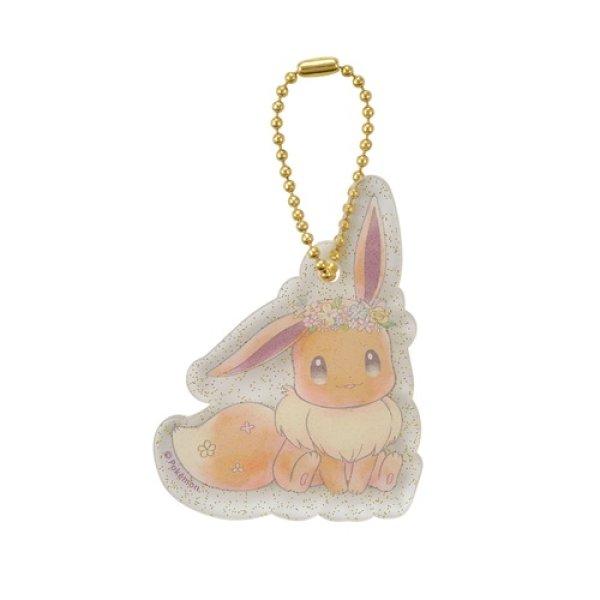Photo1: Pokemon Center 2018 Pikachu & Eevee's Easter Key chain with Egg case Eevee Acrylic charm (1)