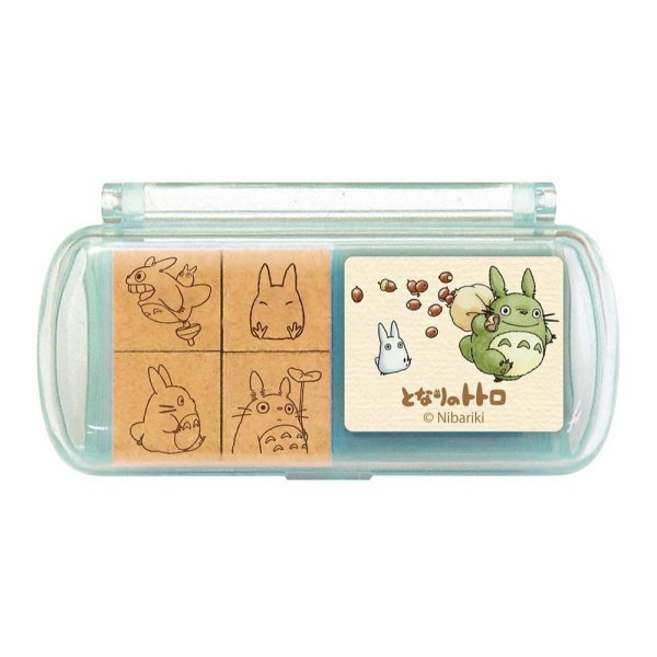 Photo1: Studio Ghibli Mini Rubber Stamp with inkpad set My Neighbor Totoro #7 (1)