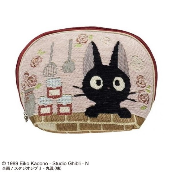 Photo1: Studio Ghibli Kiki's Delivery Service Tapestry Pouch case Flower Dining Jiji (1)